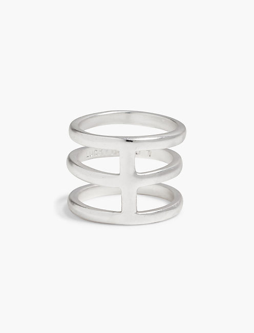 SILVER LINES RING,