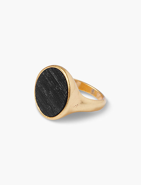 BLACK WOOD RING,