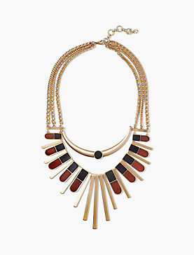 WOOD STATEMENT NECKLACE