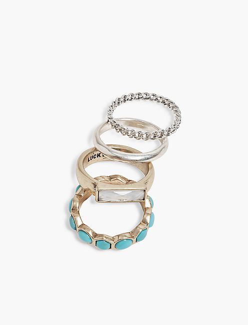 TURQUOISE RING STACK,