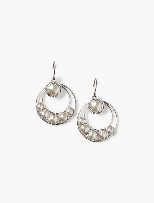 CIRCLE DROP EARRING,