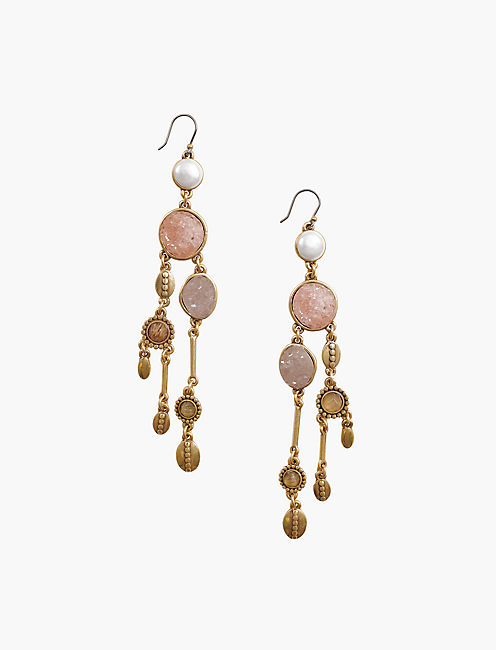 DRUZY CHANDELIER EARRING,