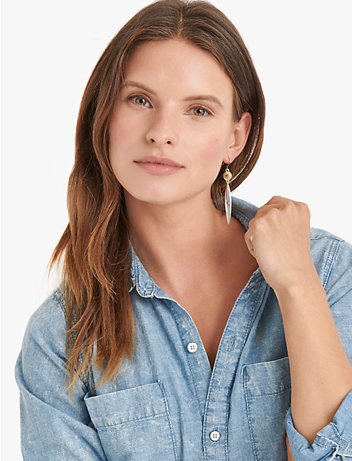 Lucky Linear Drop Earrings