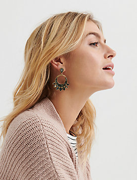 SET STONE STATEMENT EARRINGS