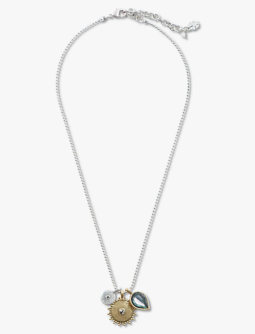 TWO TONE CHARM NECKLACE,
