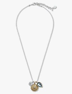 TWO TONE CHARM NECKLACE