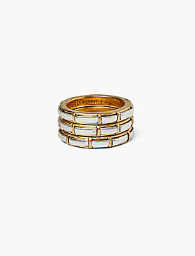 GOLD MOTHER OF PEARL STACK RING