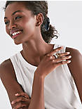 GOLD MOTHER OF PEARL STACK RING,