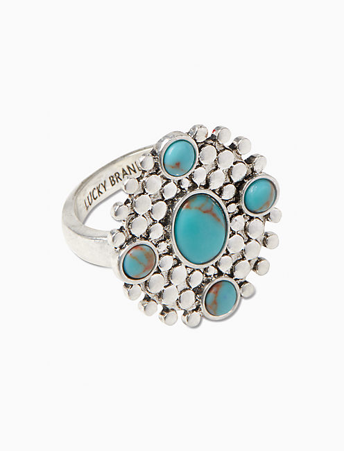 TURQUOISE STATEMENT RING,