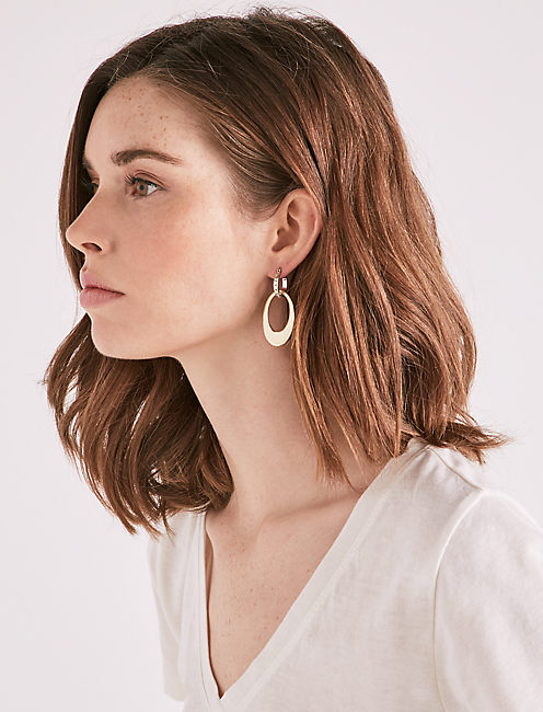 Lucky Two Tone Hoops