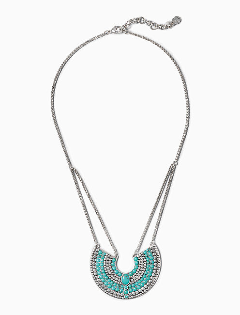 TURQUOISE CRESCENT NECKLACE,