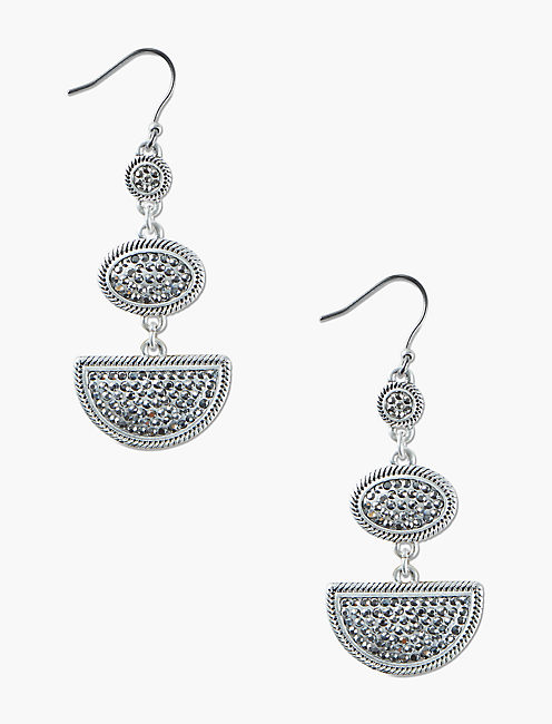 SILVER PAVE STATEMENT DROPS,