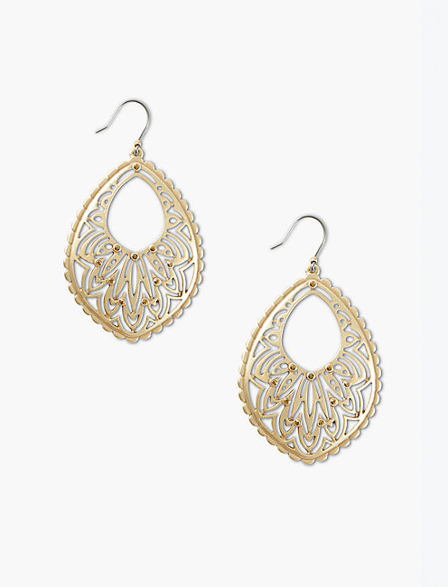 GOLD OPENWORK PAVE DROPS,