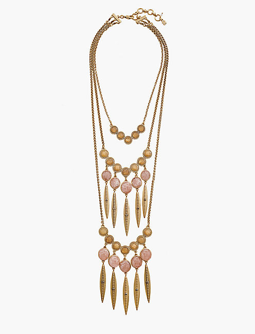 LAYER STATEMENT NECKLACE, GOLD