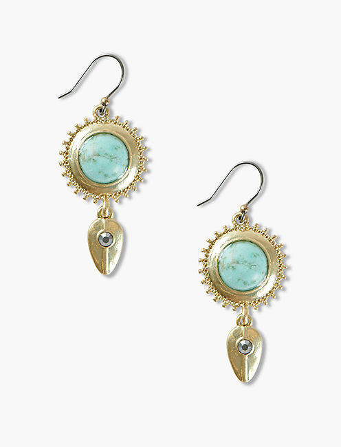 TURQOUISE PAVE DROPS,