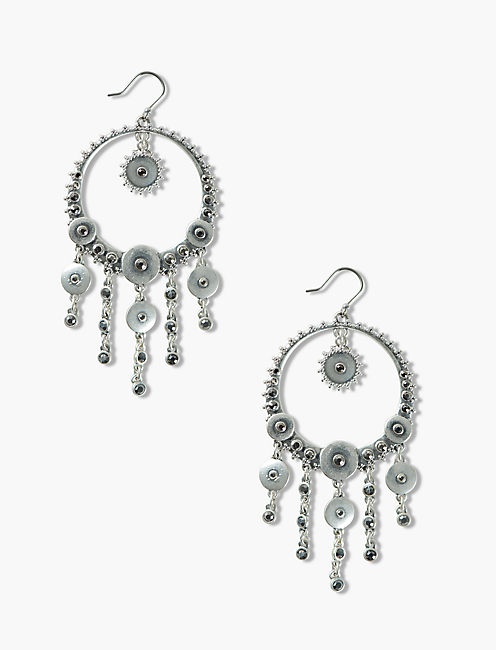PAVE DISC STATEMENT EARRINGS,