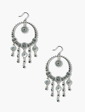 PAVE DISC STATEMENT EARRINGS