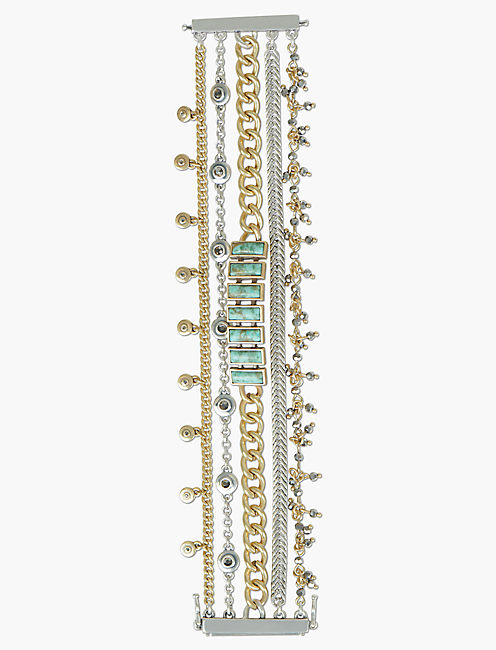 PAVE TURQUOISE LUCKY LAYER BRACELET,
