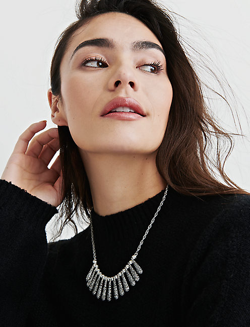 PAVE SPIKE COLLAR NECKLACE,