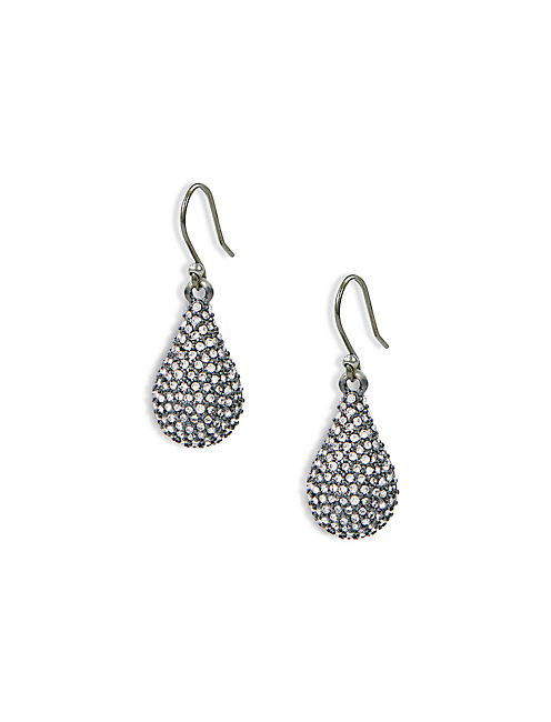 OXODIZED PAVE DROPS,