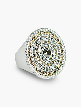 TRIBAL PAVE STATEMENT RING