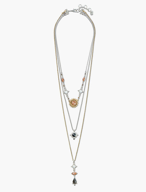 SET STONE PAVE LAYER NECKLACE,