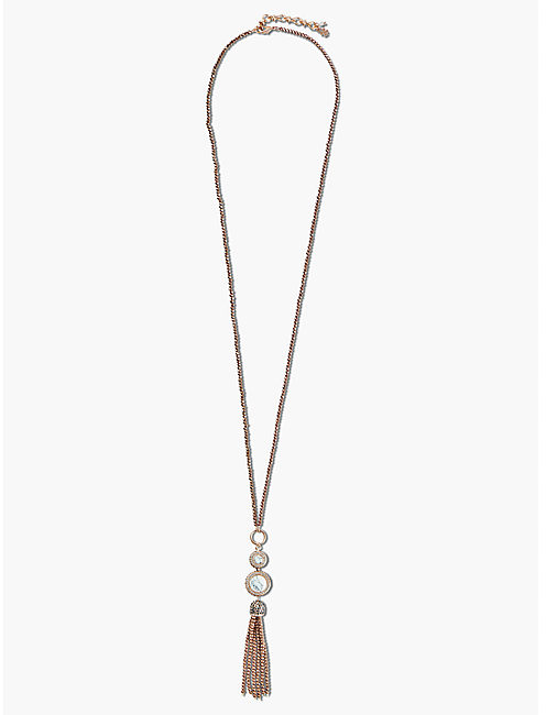 SET STONE TASSEL NECKLACE,