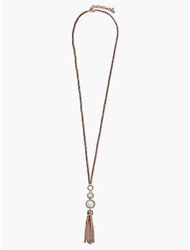 SET STONE TASSEL NECKLACE