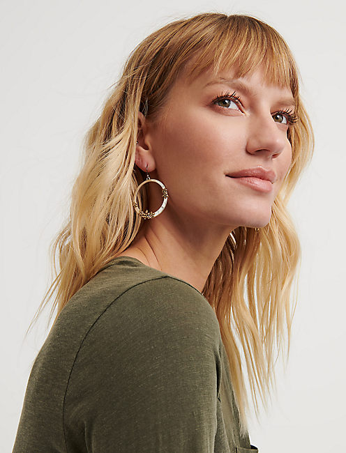 Floral Front Facing Hoops
