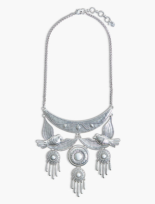 PEARL DRAMA NECKLACE, SILVER