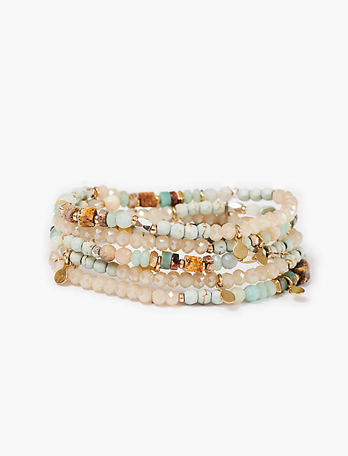 BEADED LAYER BRACELET,