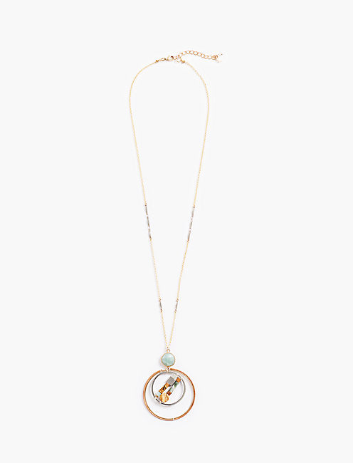 DOUBLE CIRCLE NECKLACE,