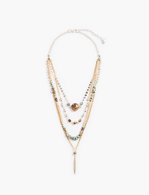 LAYER BEAD CHAIN NECKLACE,