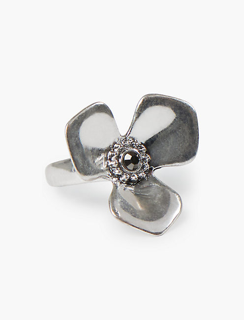 SILVER FLOWER RING, SILVER