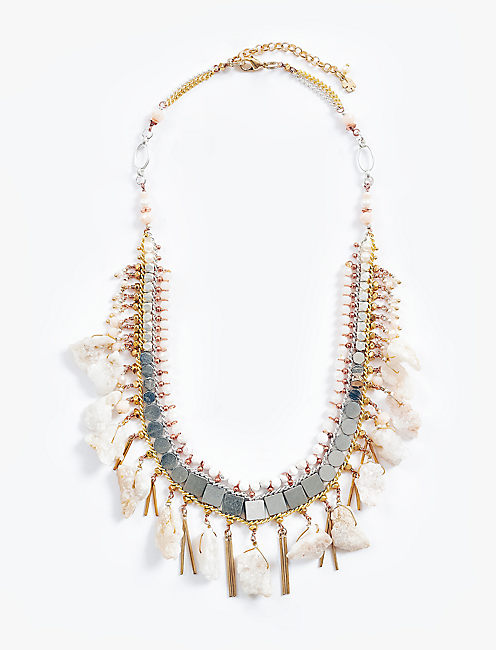 STONE LAYER NECKLACE,