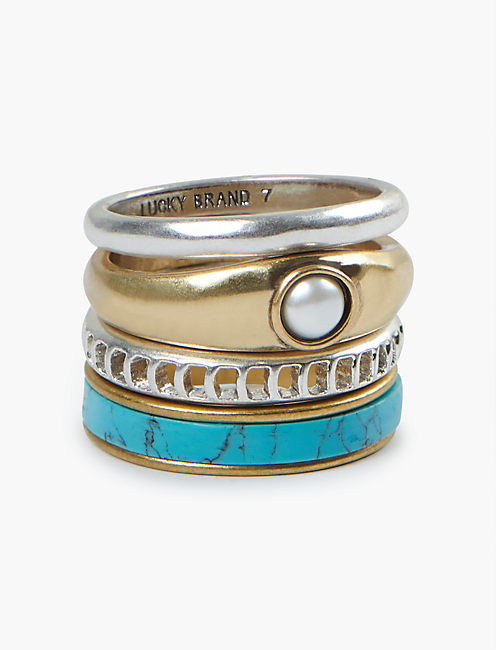 Ariel Blue Ring Stack