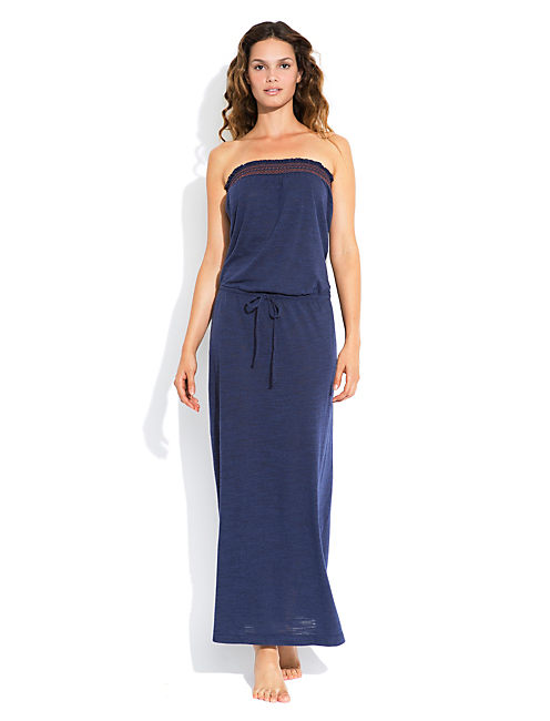BATIK PARADISE MAXI DRESS, DARK BLUE