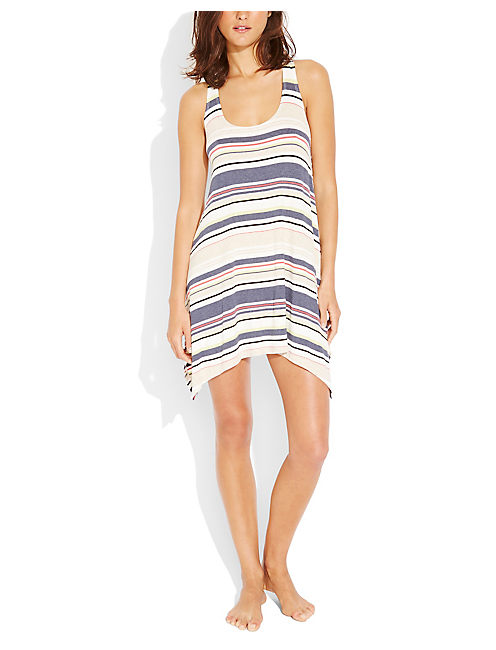 NEUTRAL TERRITORY DRESS, OPEN BLUE/TURQUOISE