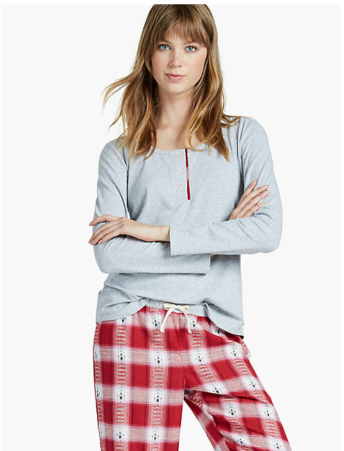 CONTRAST PLACKET PAJAMA,