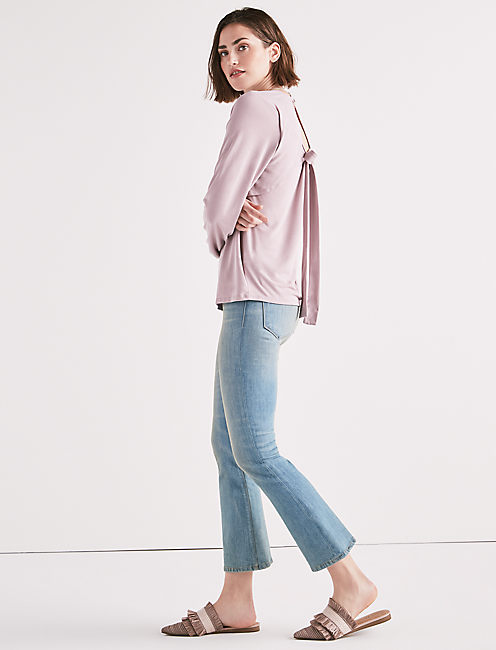 TIE BACK CUTOUT TOP,