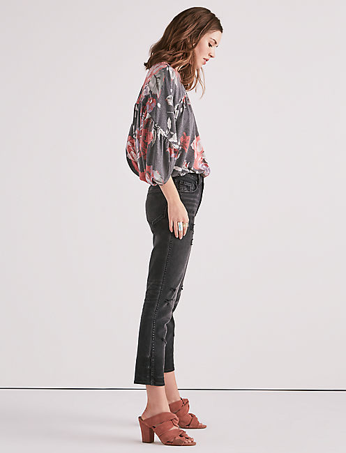 Lucky Long Sleeve Floral Dolman Top