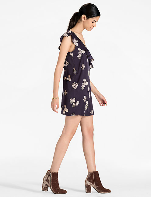 Lucky Asymmetrical Floral Dress
