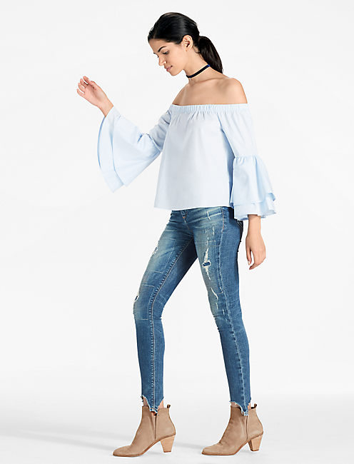 Lucky Off The Shoulder Bell Sleeve Top