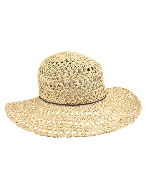 OPENWEAVE FLOPPY HAT, #130 NATURAL