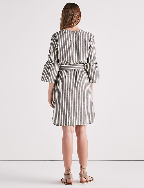 PARKER DRESS, GREY MULTI