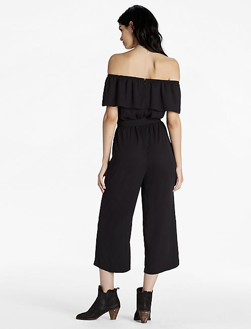 OFF SHOULDER JUMPSUIT, 001 LUCKY BLACK