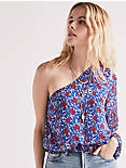 ONE SHOULDER FLORAL TOP,