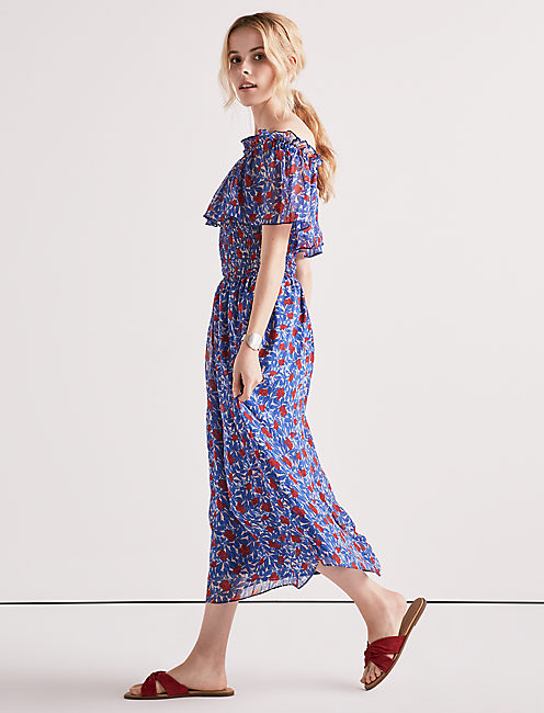 Lucky Off Shoulder Floral Dress