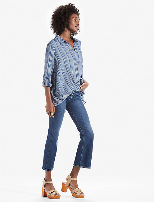 STRIPE WRAP FRONT TOP,