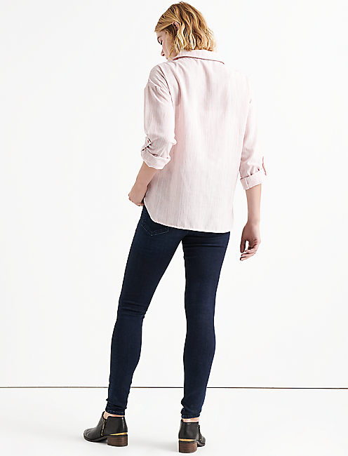 WRAP FRONT TOP, BLUSH MULTI